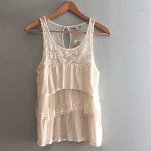 NEW American Eagle Lace Layered Tank Top